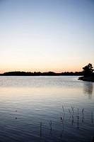 Stockholm Archipelago At Dusk Sweden.