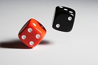 Dices against white background