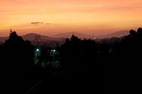 Sunset Athens Greece