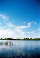 A lake and blue sky Roslagen Sweden.