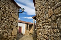 Houses in the Historic Village of Castelo Mendo, in Beira Alta of Guarda District  Portugal