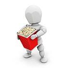 Person holding popcorn