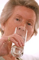 THIRSTY ELDERLY PERSON Model.