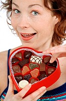 WOMAN EATING SWEETS Model.