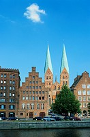 St. Marien_Church, Hanseatic City Luebeck, Schleswig_Holstein, Germany