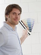 Man with colour palettes