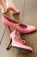 High heeled shoes and feet