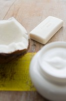 Coconut soap and cream