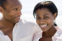 Smiling african american couple