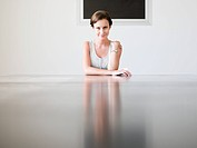 Young woman in a conference room