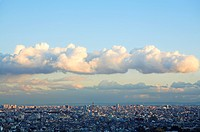 Clouds over office buildings, Tokyo prefecture, Japan