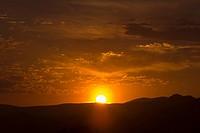 Mountains at dusk, California State Route 1, California, USA