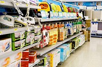 Home appliances in a supermarket