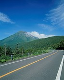 Road through Shiretoko National Park, Hokkaido, Japan