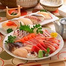 Sashimi and rice