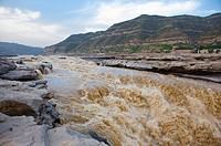 Asia, China, Shanxi, Jixian County, Yellow River, Hukou Waterfall