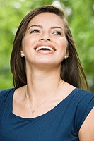 Smiling female hispanic teenager