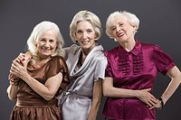 Senior female friends
