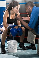 Female boxer and coach (thumbnail)