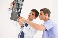 Doctors looking at mri scan