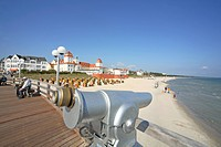 Oculars on the pier of Binz, Rugen Island, Germany