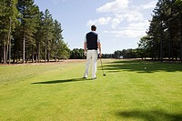 Male golfer on the fairway