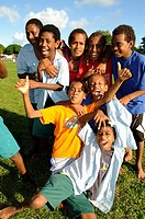 boys at sports ground, Port Vila, Vanuatu