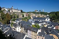 City view over the Petrusse_valley, Luxembourg, Europe