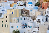 City view of Oia, Santorini, Greece, Europe