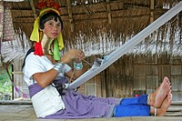 Woman longneck karen in Northern Thailand Chiang Rai region