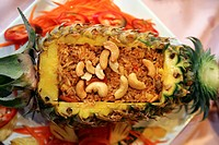 Thaifood, Rice in Pineapple with Cashew Nuts