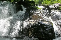 Thailand, Waterfall at Thale Ban National Park