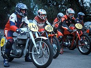 Motorcycle race with historic machines