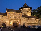 Neutor and Neutorturm in Nuremberg at Night