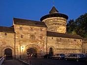 Neutor and Neutorturm in Nuremberg at Night
