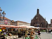 Church of Our Lady and Main Market in Nuremberg, Germany
