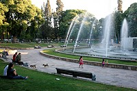 Plaza Independencia, the main city square, Mendoza, Argentina, South America