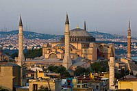 Hagha Sophia in evening light, UNESCO World Heritage Site, Istanbul, Turkey, Europe