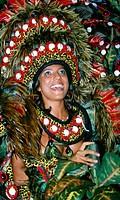 Carnaval parade at the Sambodromo Rio de Janeiro Brazil