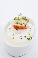 Celeriac parfait with lobster