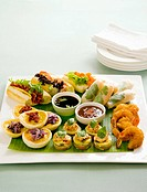 Appetiser platter with dips