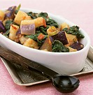 Aubergine and spinach