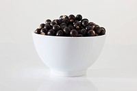 Acai berries Euterpe oleracea in a bowl