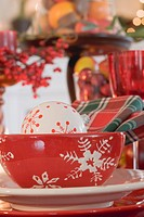 Christmas place_setting and Christmas decorations