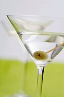 Martini with olive