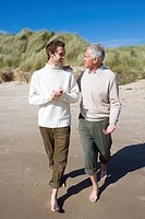 Two men discussing on beach