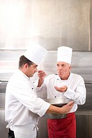 Chefs in commercial kitchen (thumbnail)