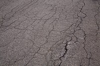 Close_up of cracked asphalt, Montreal, Quebec