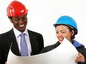 Bauleiter und Architektin