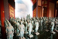 Bronze soldier figurine in The Art Of War Culture City Of China, Huimin County, Binzhou City, Shandong, China